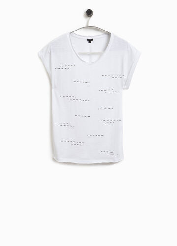 Smart Basic cotton T-shirt with studs