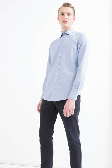 Camicia slim fit in cotone fantasia