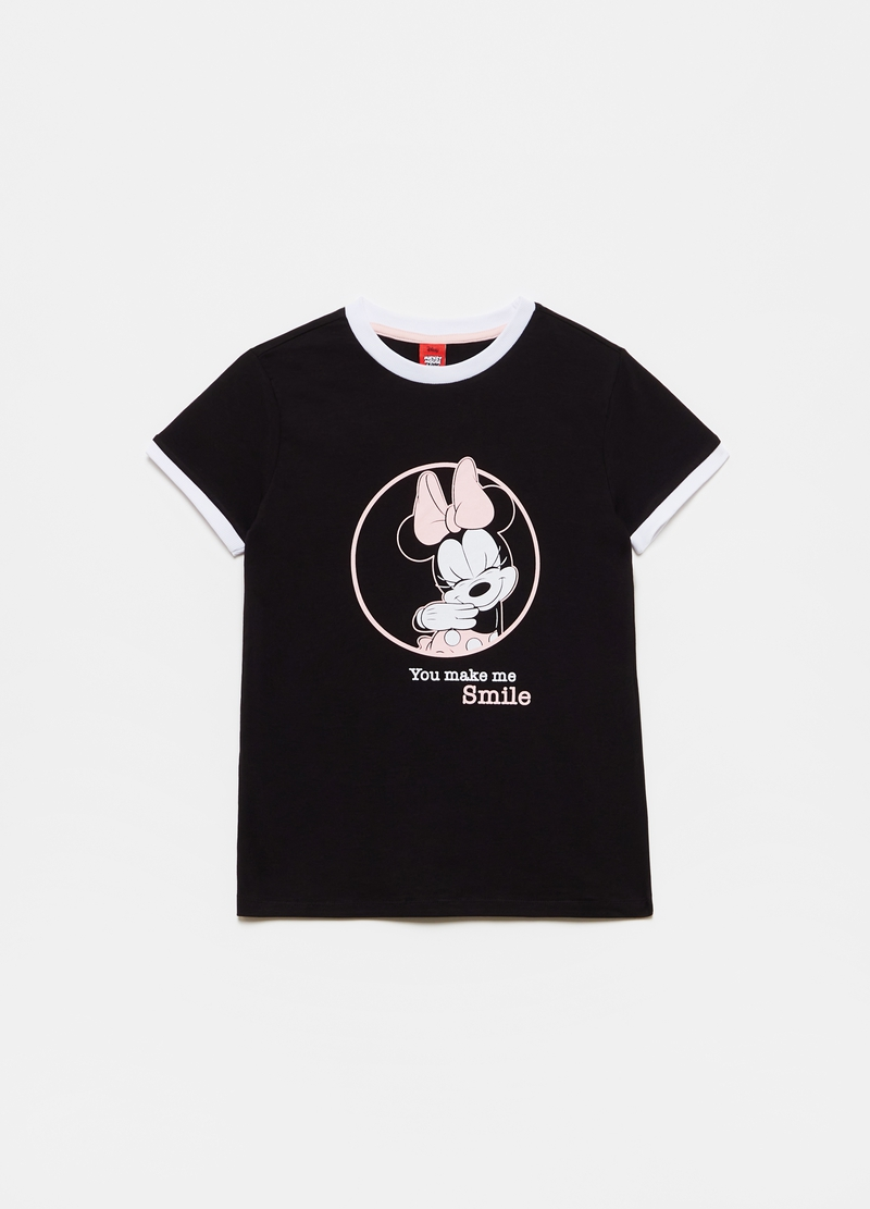T-shirt with Disney Minnie Mouse print and round neck image number null
