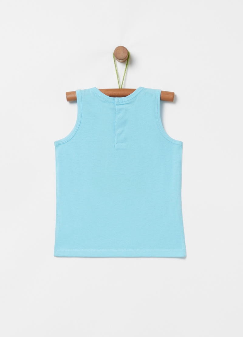 Tank top with ice cream cart print image number null