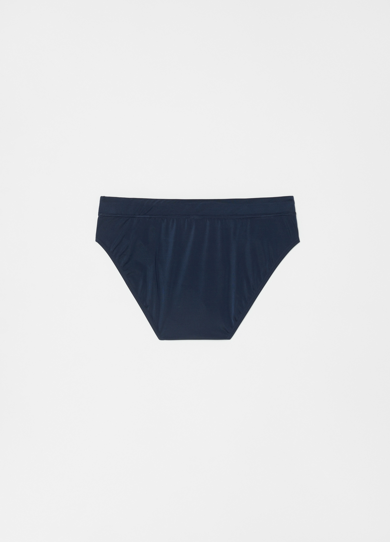 Solid colour swim briefs in regenerated PET image number null