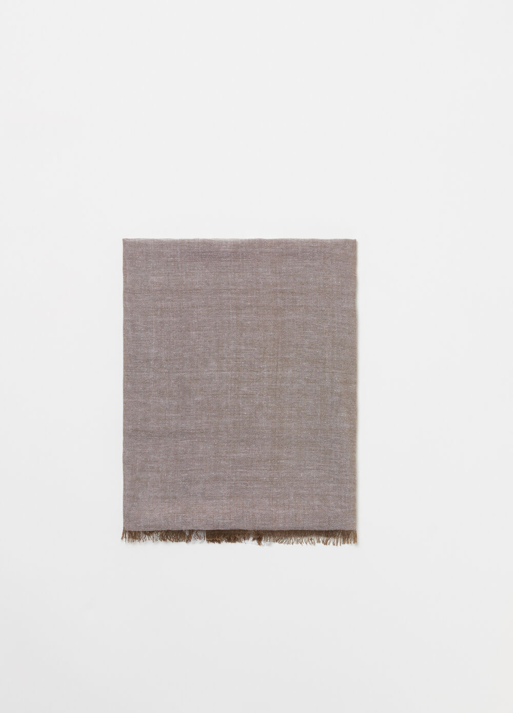 Viscose and cotton scarf with striped edge