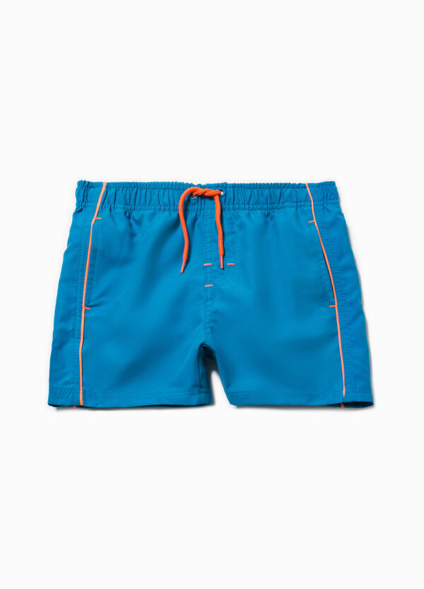 Swim boxer shorts with trim and drawstring | OVS