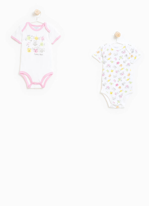 Two-pack bodysuits patterned and printed | OVS