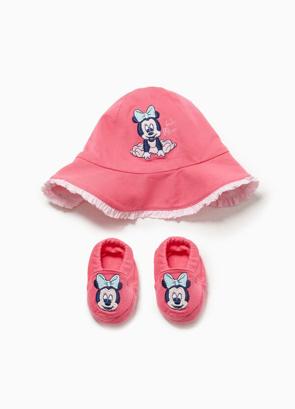 Minnie Mouse hat and shoes set
