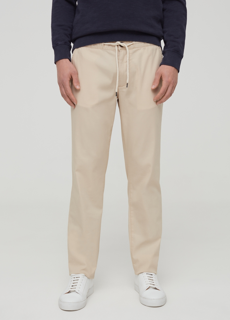 Solid colour regular-fit joggers image number null