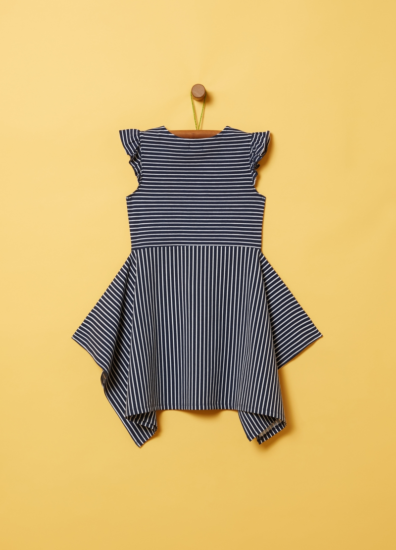 All-over striped print dress image number null