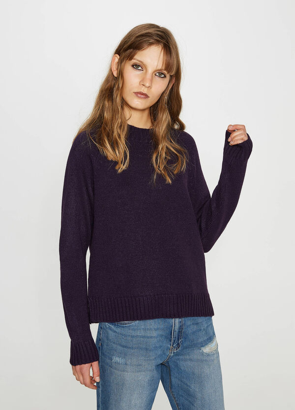 Knitted pullover with slits | OVS