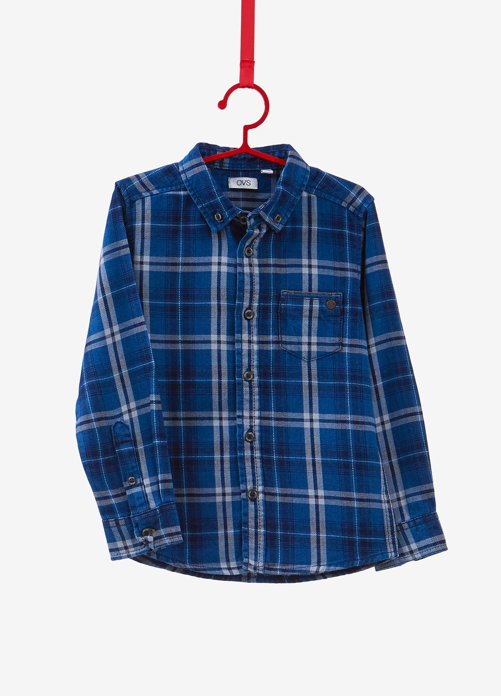 100% cotton shirt with check pattern