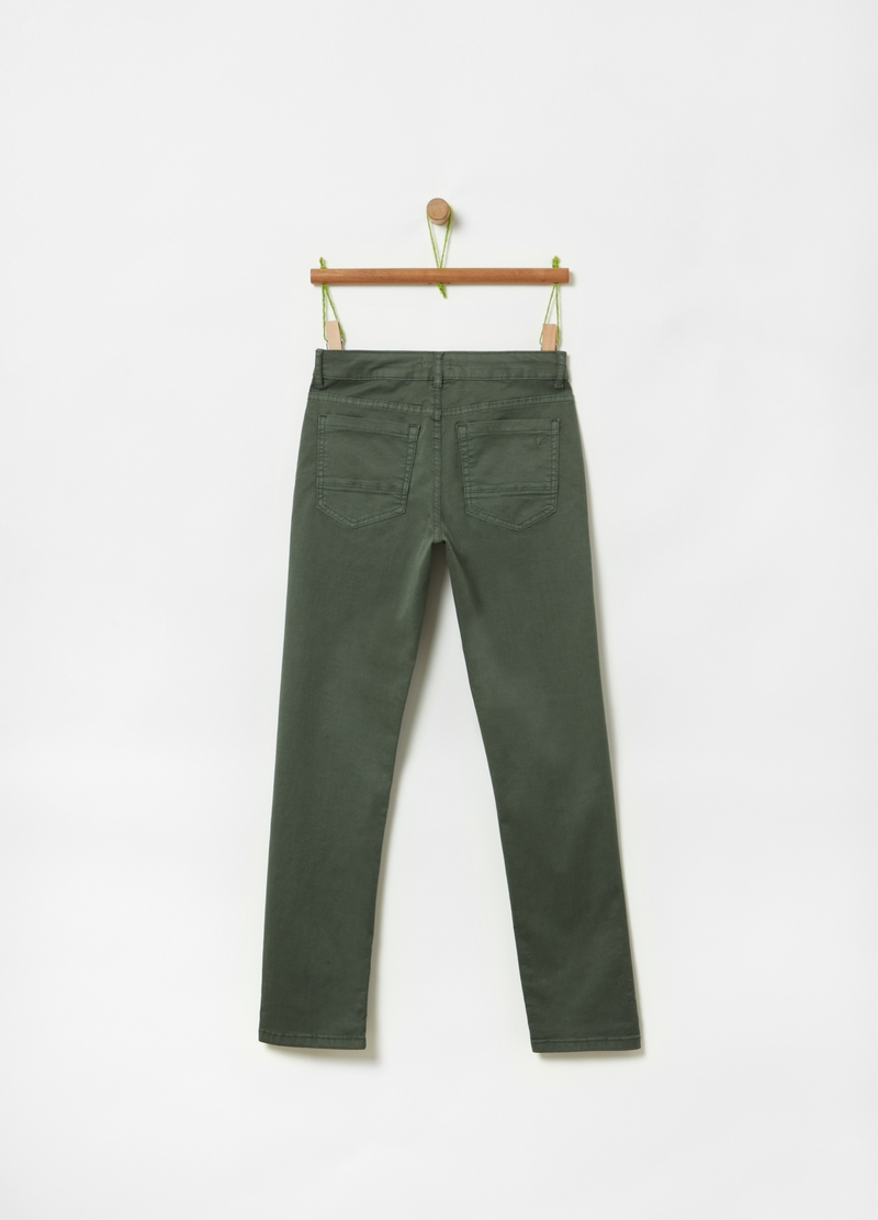 Organic cotton trousers with five pockets image number null