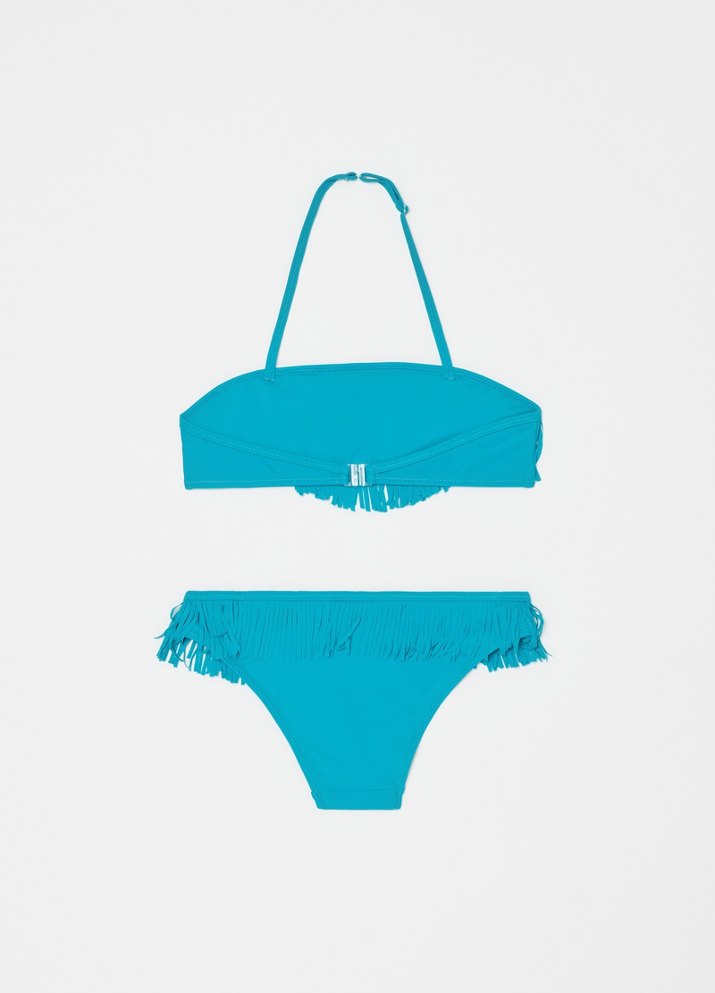 Swimsuit with fringing image number null
