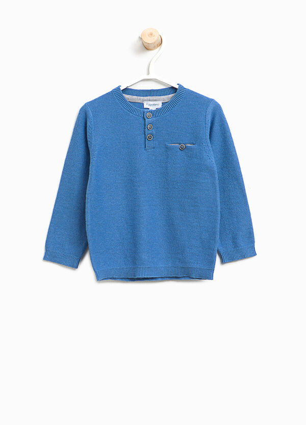 Solid colour pullover with pocket | OVS
