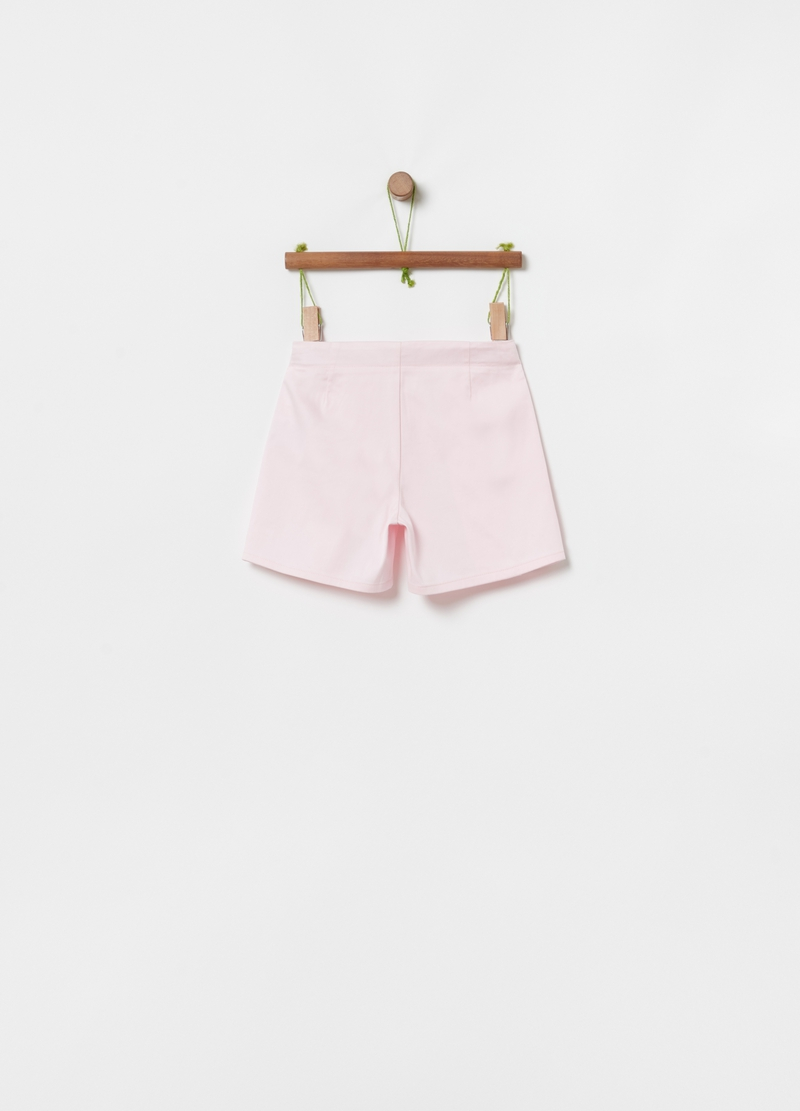 Shorts stretch con tasche e zip image number null