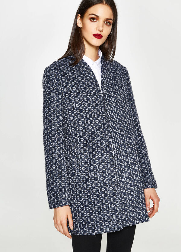 Knitted coat with shawl neck | OVS