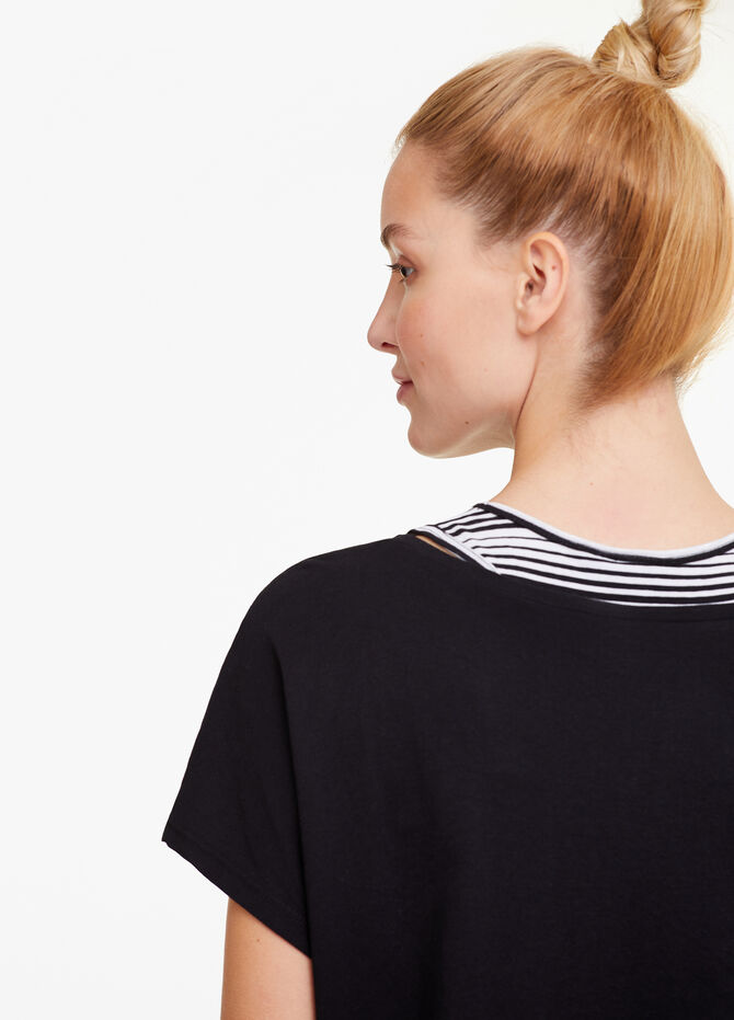 T-shirt sportiva crop stampa lettering
