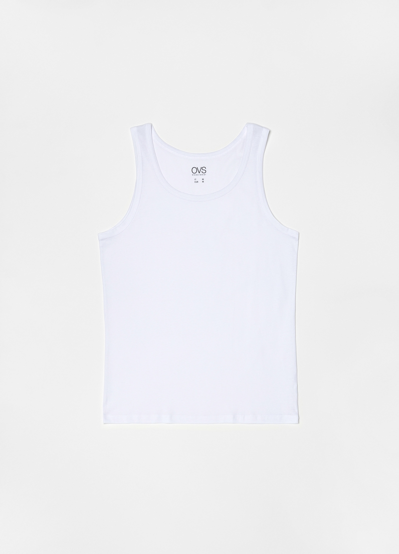 Two-pack racerback vests with round neck in 100% cotton image number null