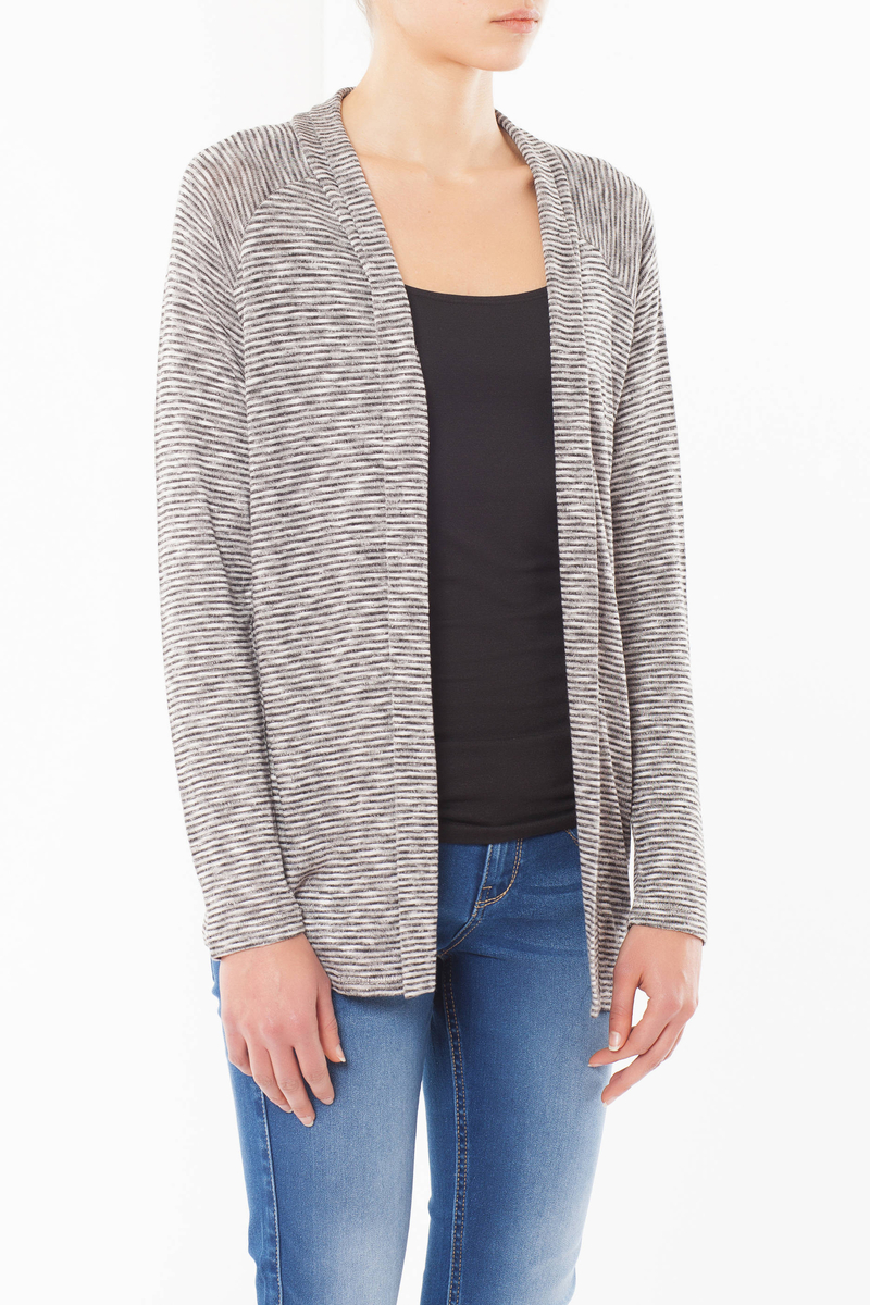 Striped cardigan image number null