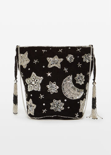 Shoulder bag with beads