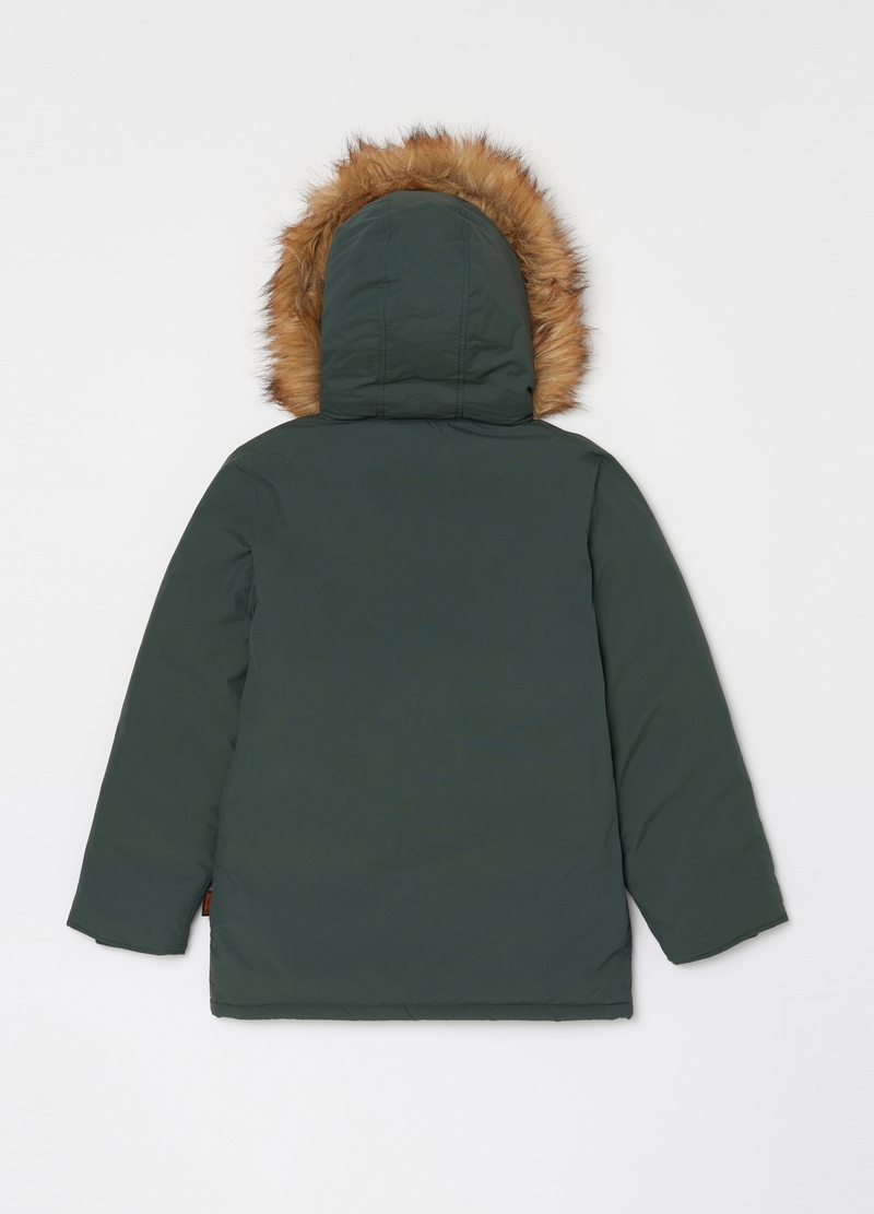 Parka with hood and ecological fur image number null