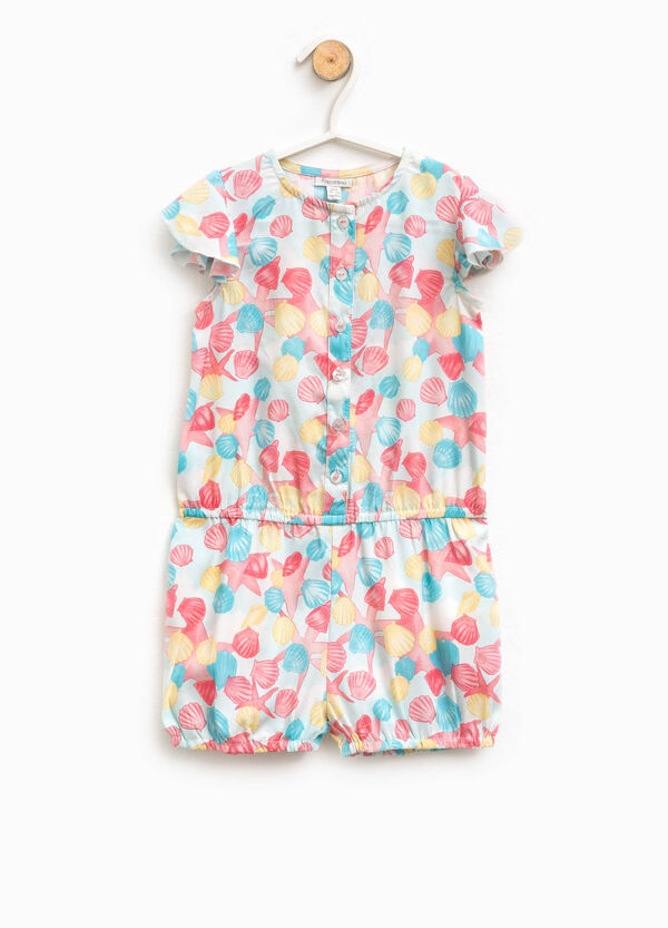 Romper suit with marine motif pattern | OVS