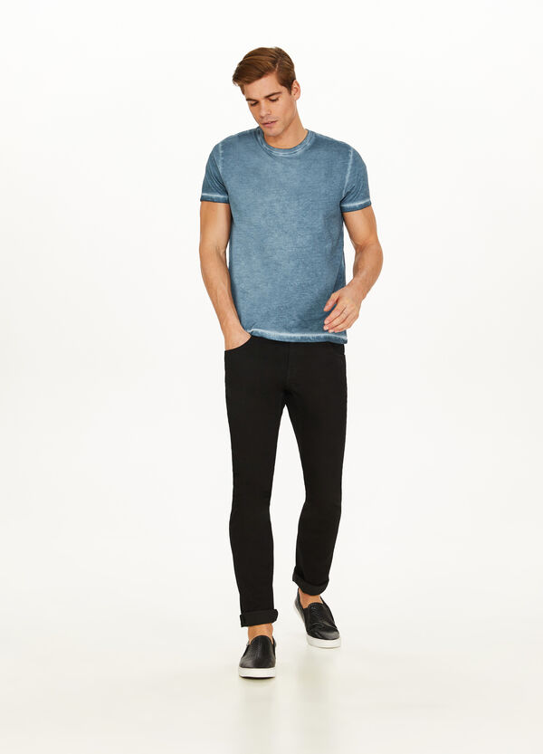 100% cotton misdyed-effect T-shirt