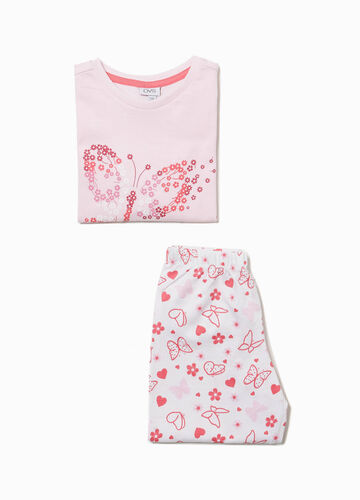 Butterflies and flowers pattern cotton pyjamas