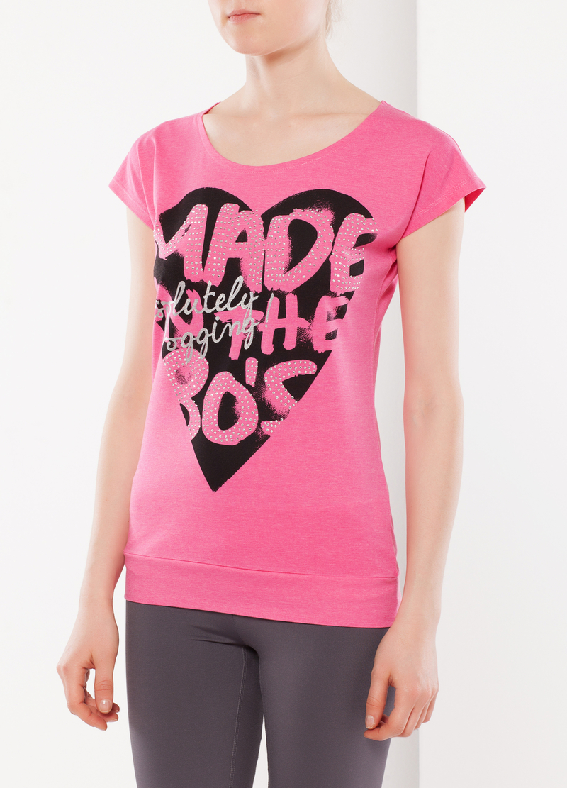T-shirt con strass image number null