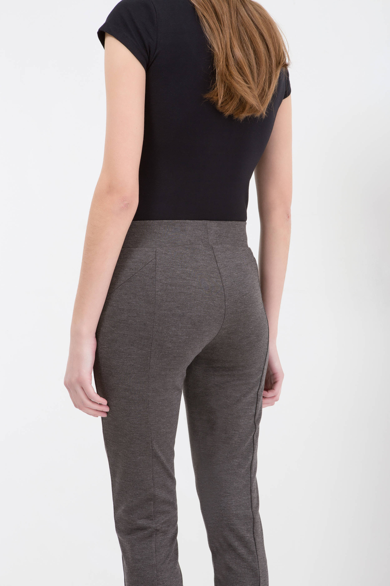 High-waisted stretch trousers image number null