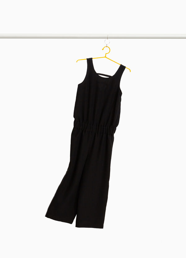 Sleeveless dress with elasticated waist band