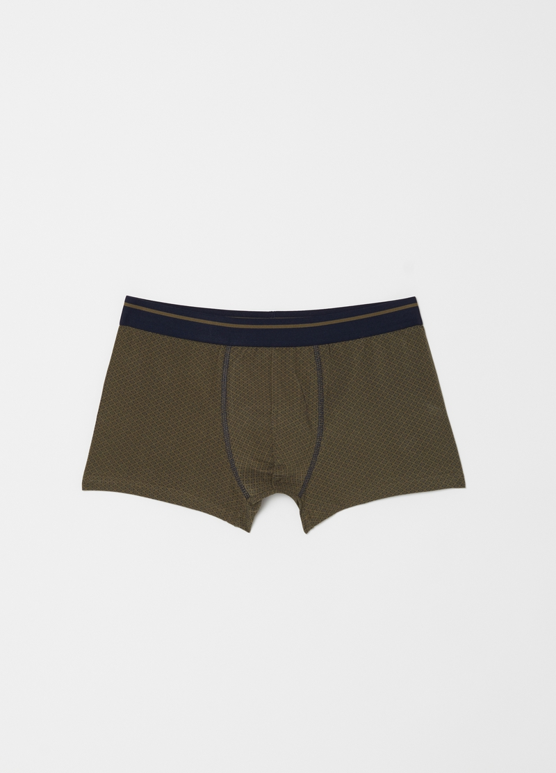 Two-pack stretch cotton boxers with pattern image number null