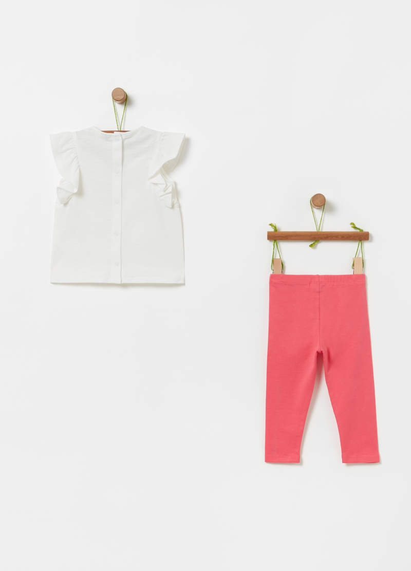 Jogging set t-shirt con stampa e leggings image number null