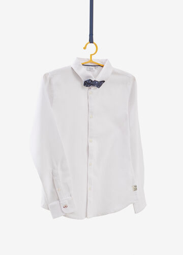 100% cotton shirt with bow tie