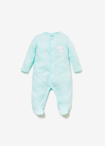 Cotton onesie with elephant print