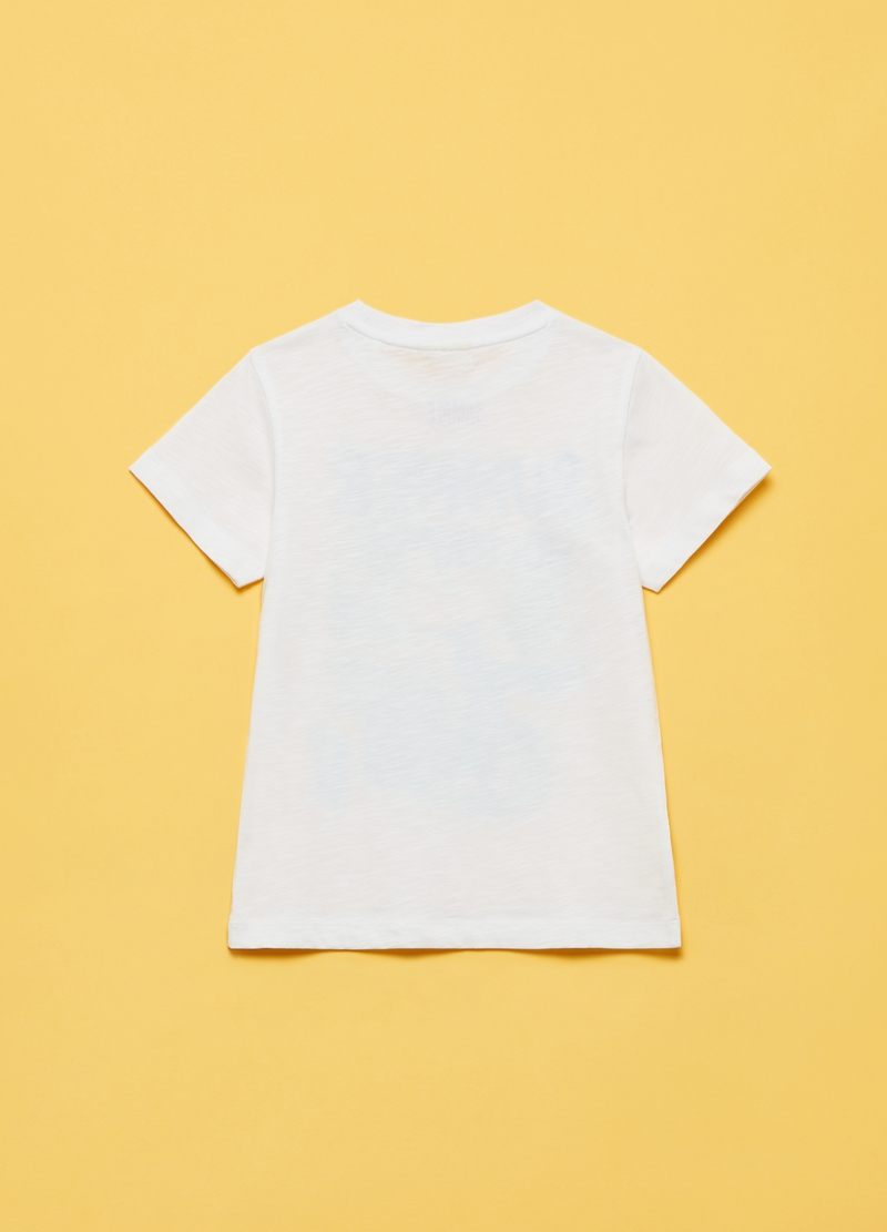 T-shirt in cotone con maxi stampa image number null