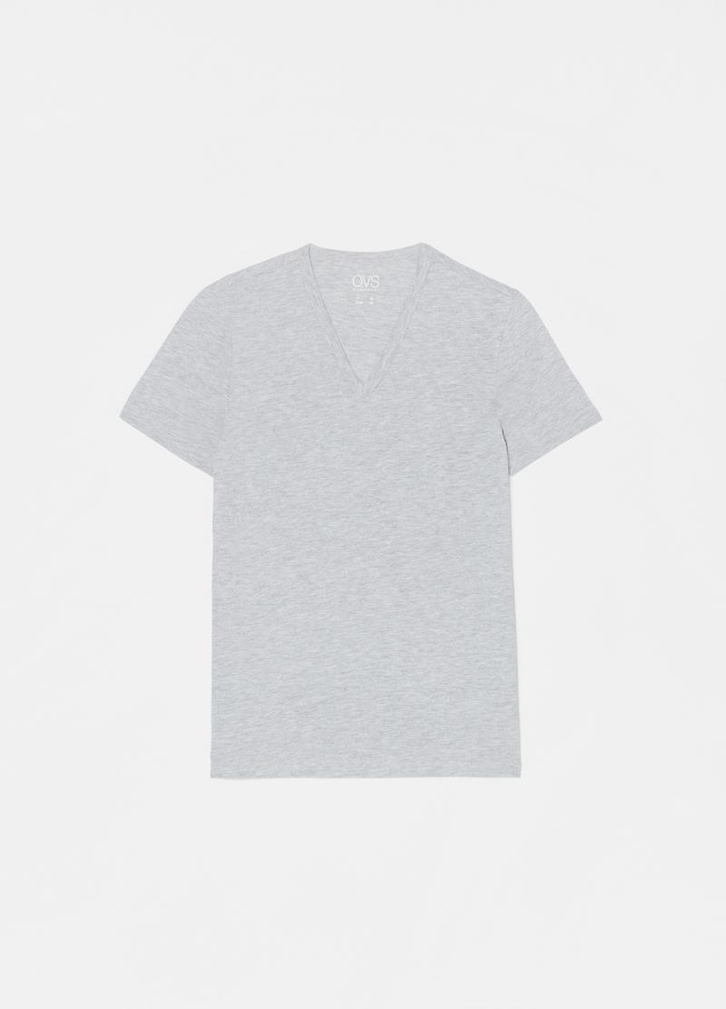 Two-pack jersey undershirts with V neck image number null