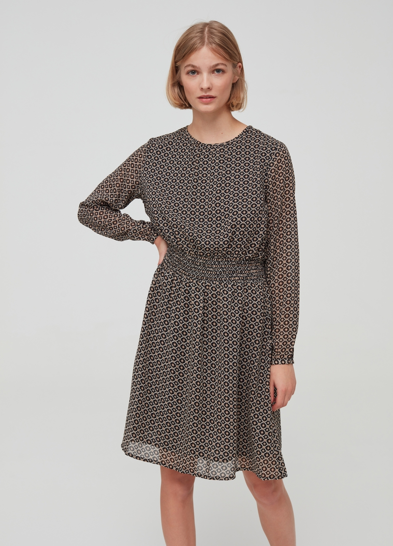Long-sleeved dress with pattern image number null