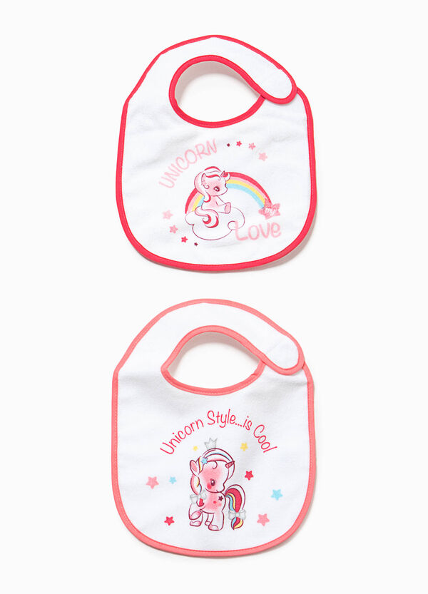 Two-pack bibs with unicorn print | OVS