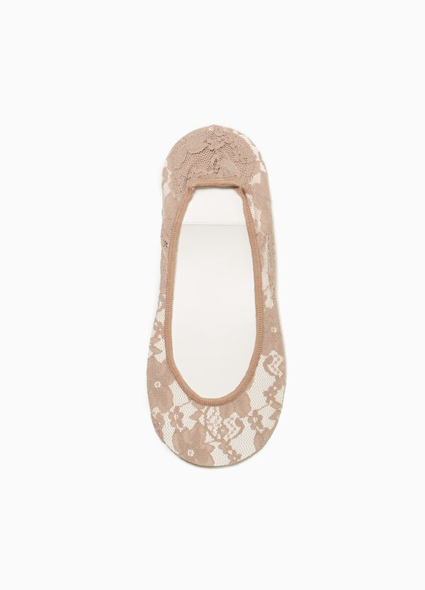 Shoe liner in cotton lace