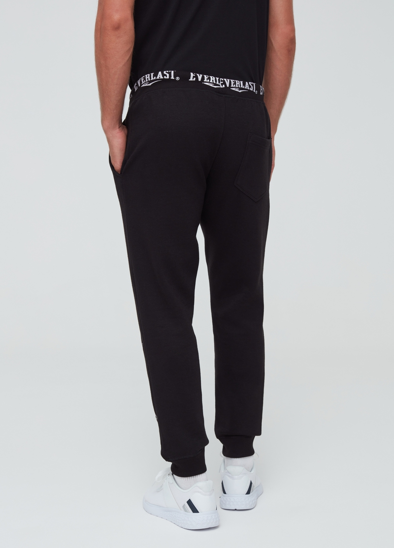 Solid colour joggers with Everlast print image number null