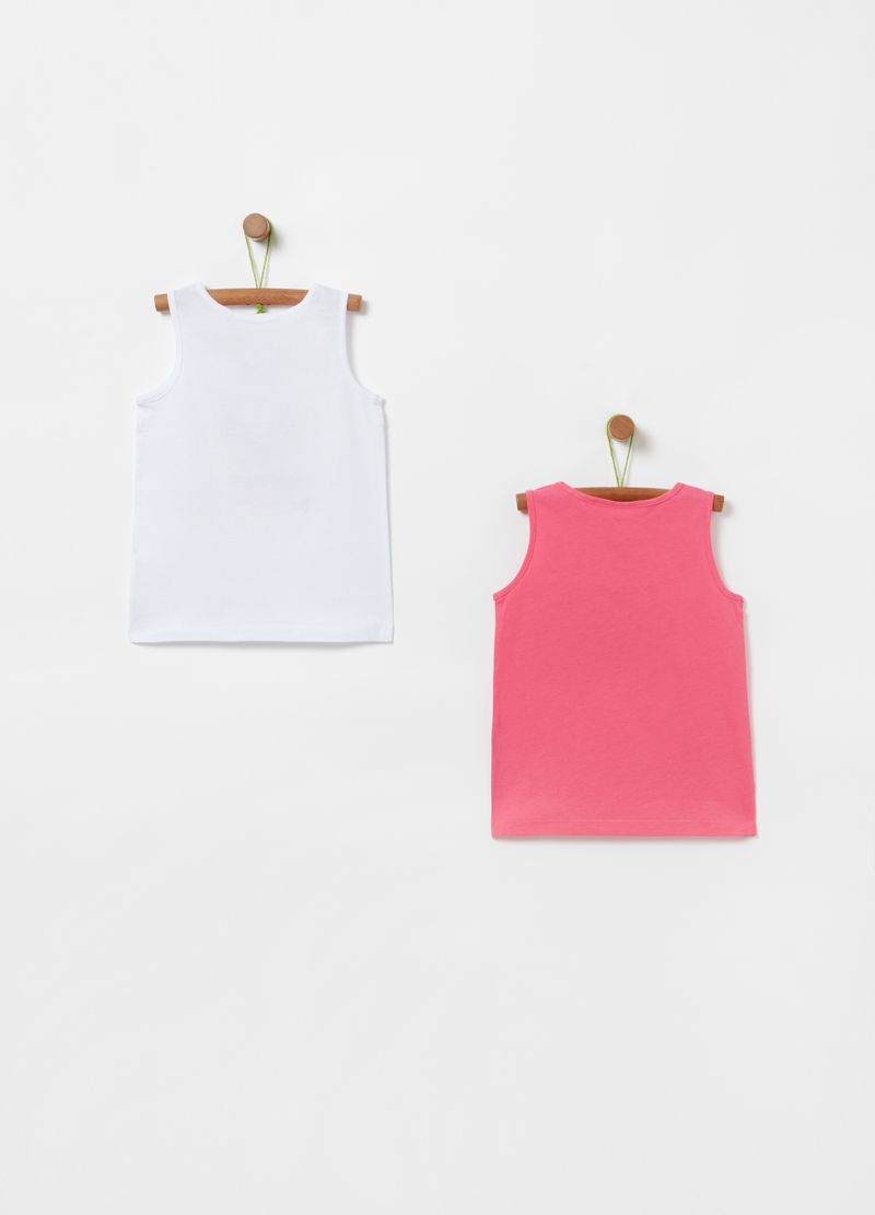 Two-pack tank tops with lettering print image number null
