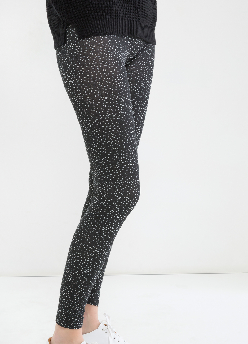 Stretch floral leggings image number null