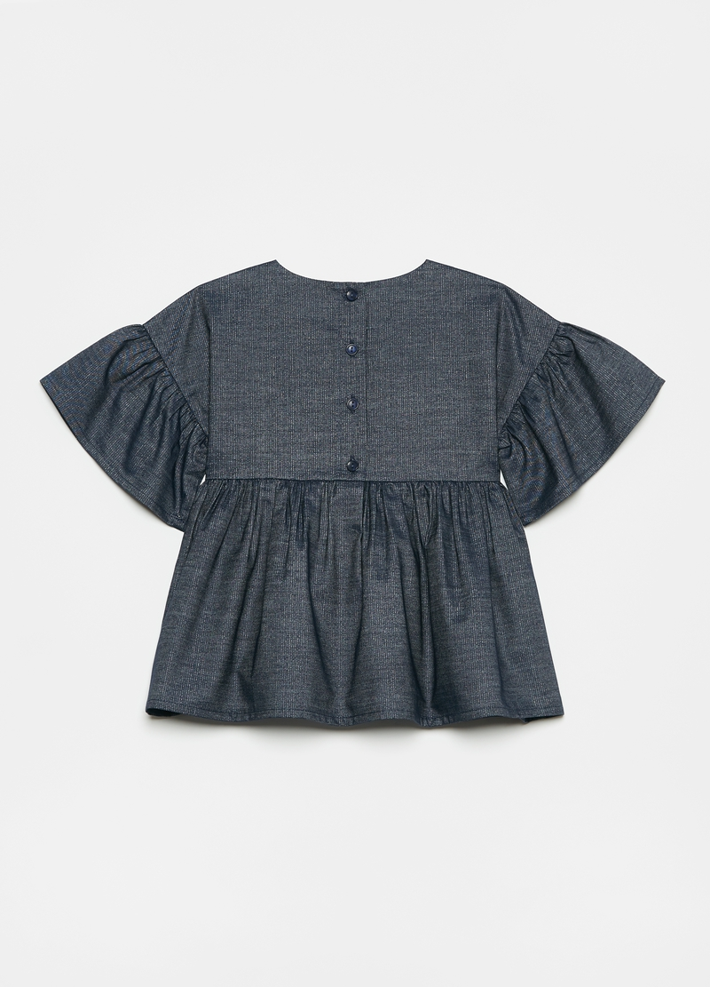 Denim blouse with lurex image number null