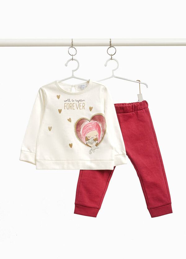 100% cotton outfit with glitter print