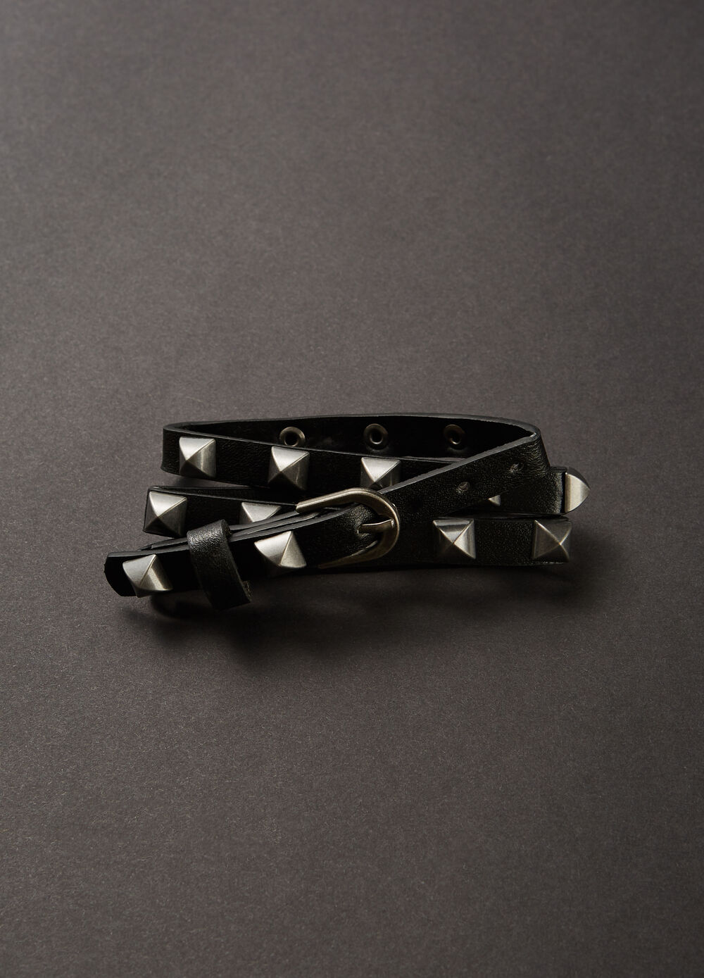 Textured bracelet with studs