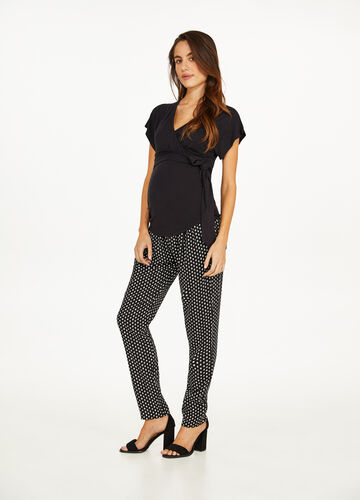 MUM crossover T-shirt in stretch viscose