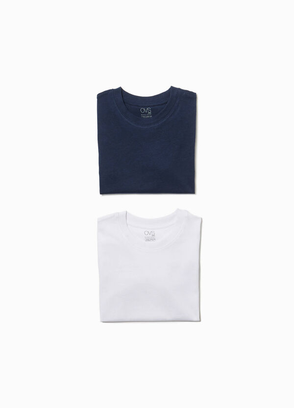 Two-pack undershirts with round neck