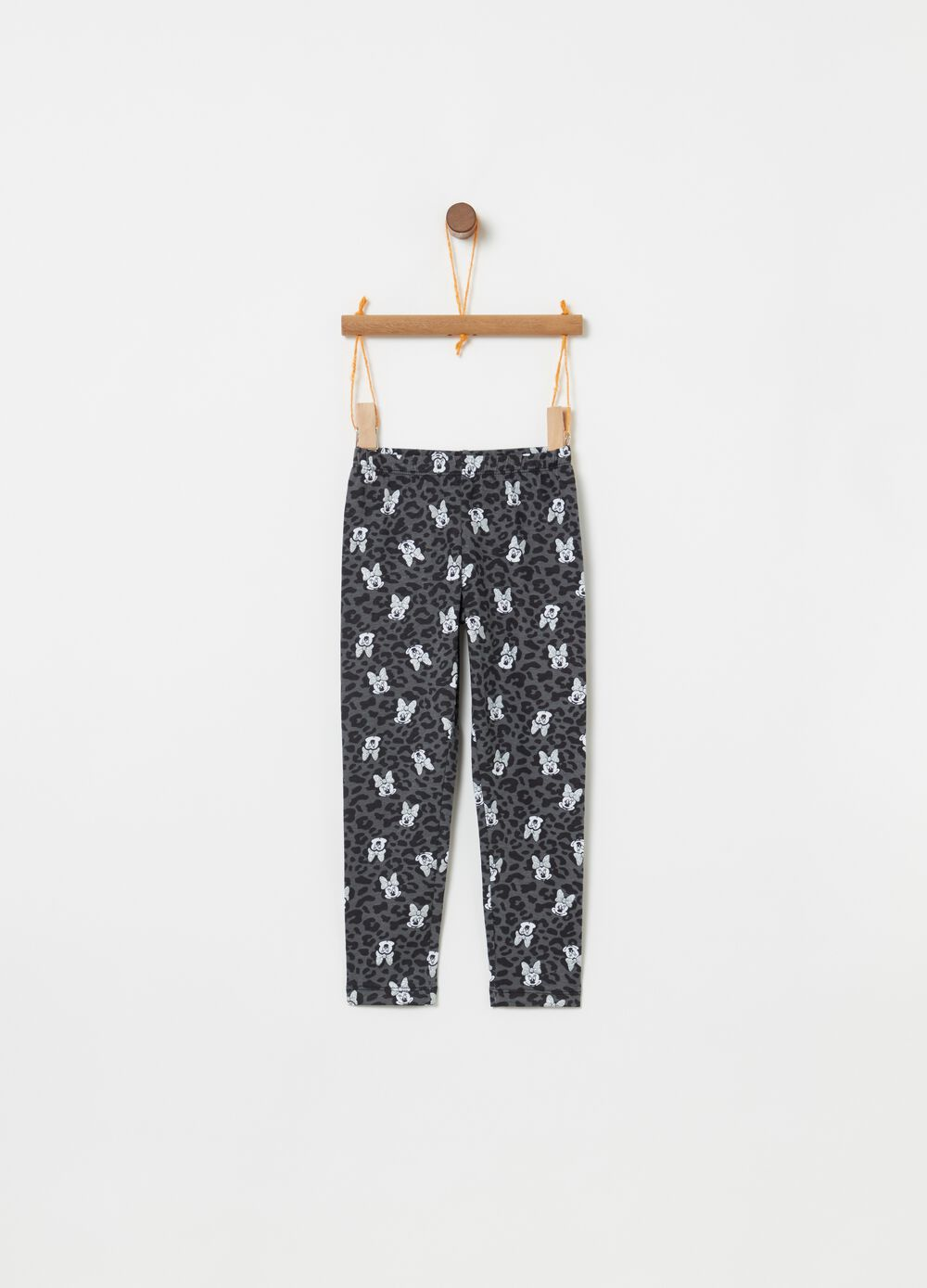 Minnie leggings with all over animal pattern