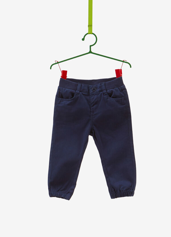 100% cotton trousers with pockets