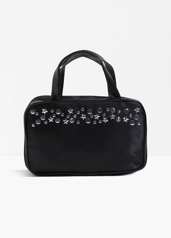Beauty case with handles and studs