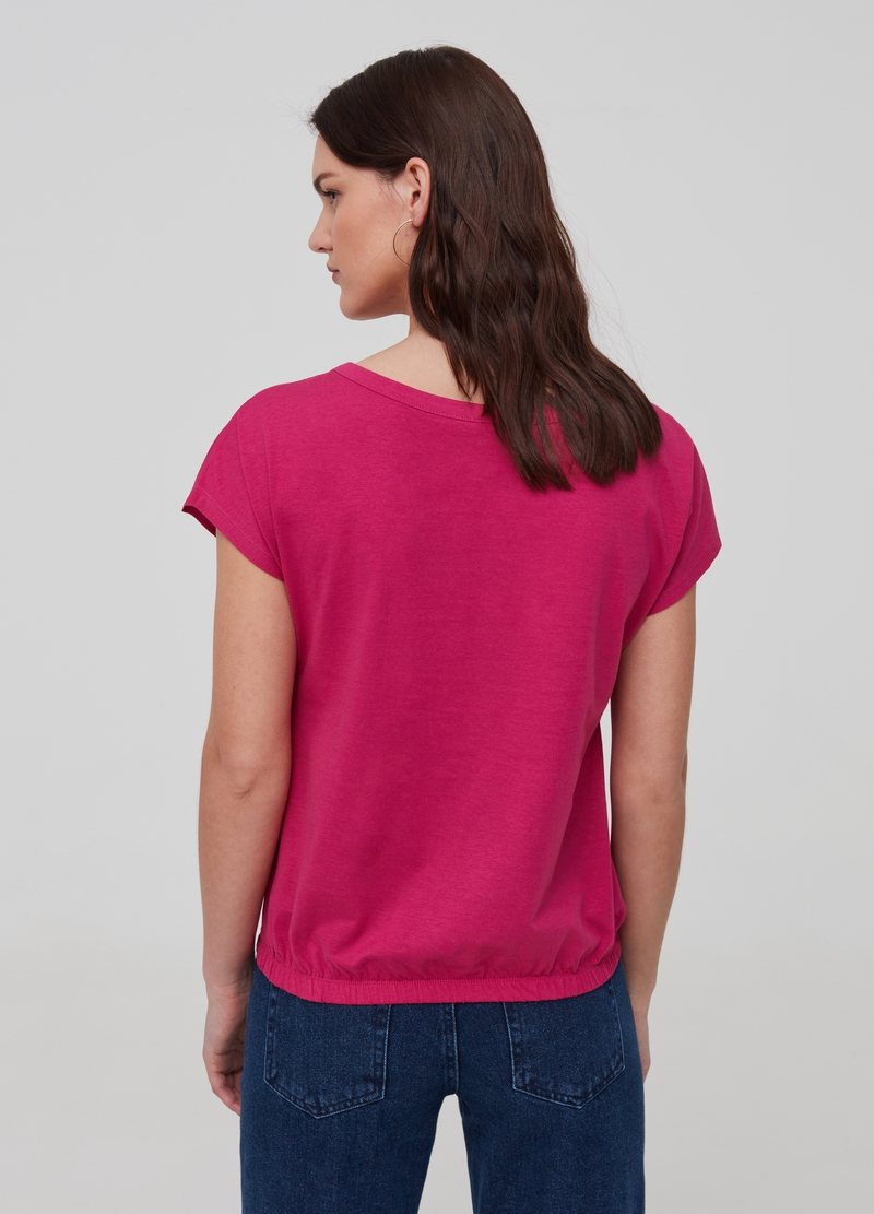 Solid colour 100% organic cotton T-shirt image number null